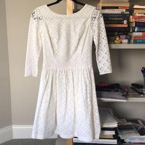 white lily pulitzer lace dress